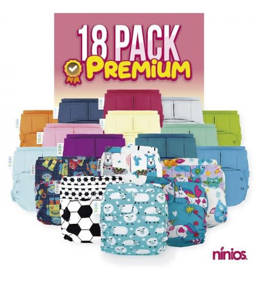 18 PACK PREMIUM **Selecciona tus diseños y colores al gusto**