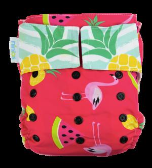 pañal de natación fruit flamingos
